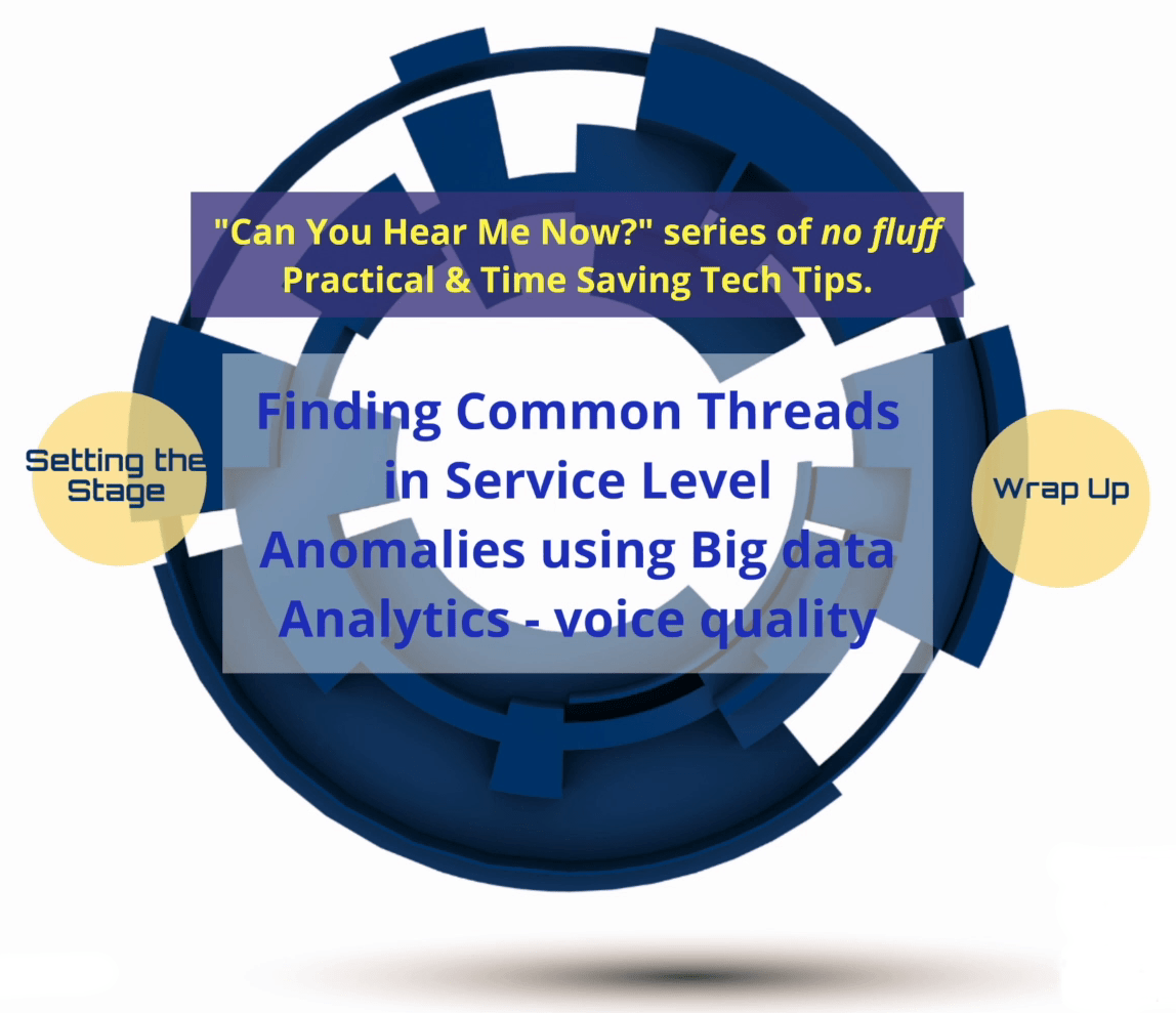Finding Common Threads in Service Level Anomalies Using Big Data Analytics-Voice Quality